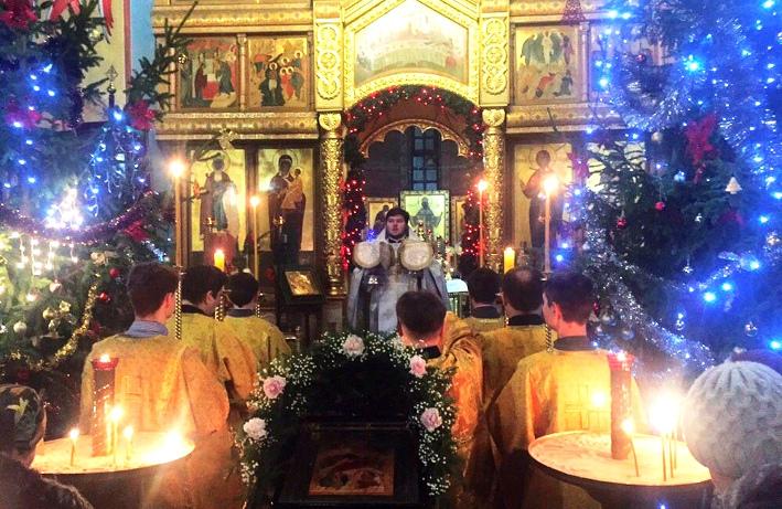 Празднование Рождества Христова в Удомельском благочинии