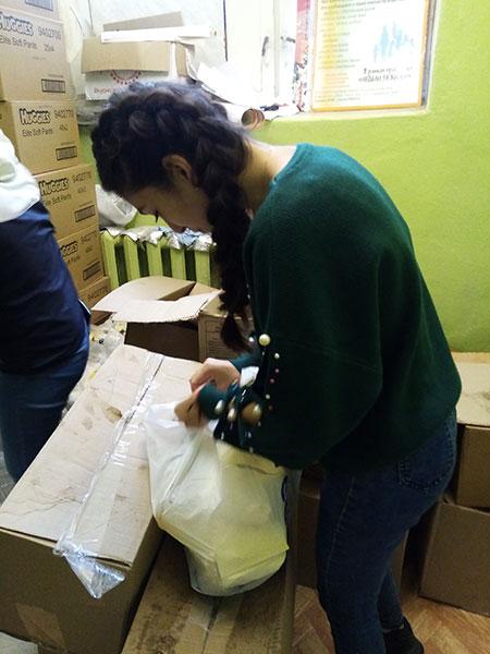 Подготовка продуктовых наборов