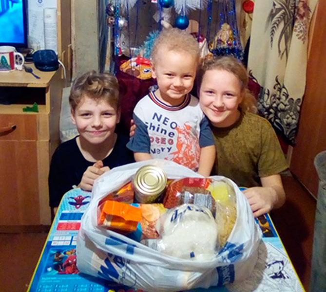 Продуктовая помощь в новому году для малообеспеченных семей